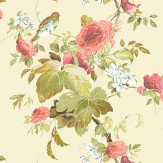 Blendworth Silk Flower Beige/ Red Fabric - Product code: SILK FLOWER 102