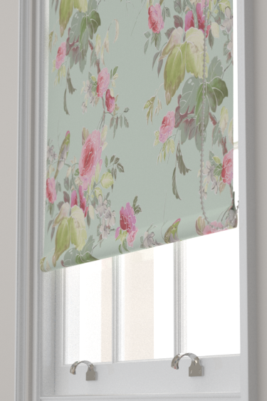 Blendworth Silk Rose Pink/ Duck Egg Blind - Product code: SILK ROSE 103