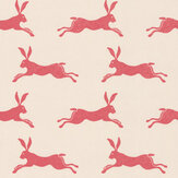 Jane Churchill March Hare Red Wallpaper - Product code: J135W-01