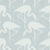 Sanderson Flamingos Dove / Chalk Wallpaper