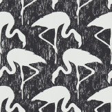 Sanderson Flamingos Ebony / Stone Wallpaper