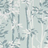 Sanderson Beechgrove Duck Egg / Chalk Wallpaper