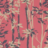 Sanderson Beechgrove Red / Gold Wallpaper