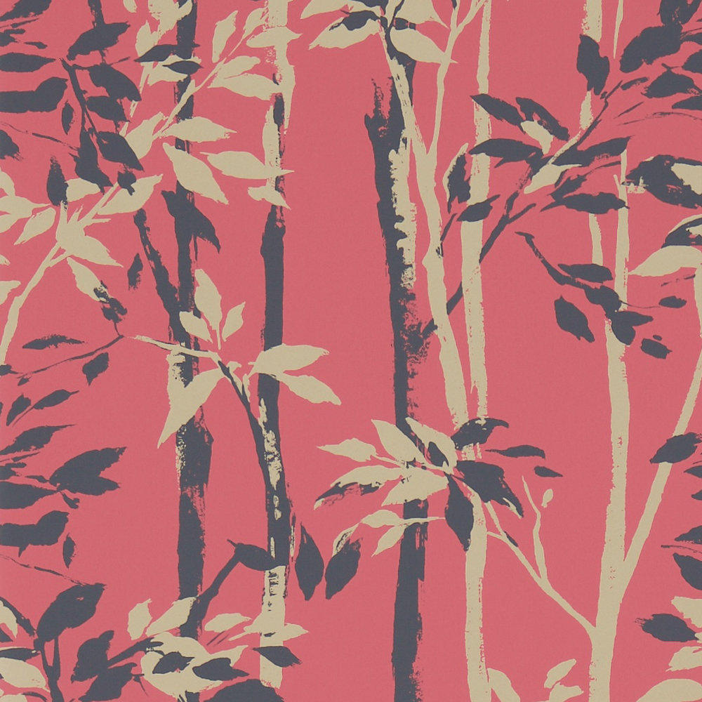 Sanderson Beechgrove Red / Gold Wallpaper main image