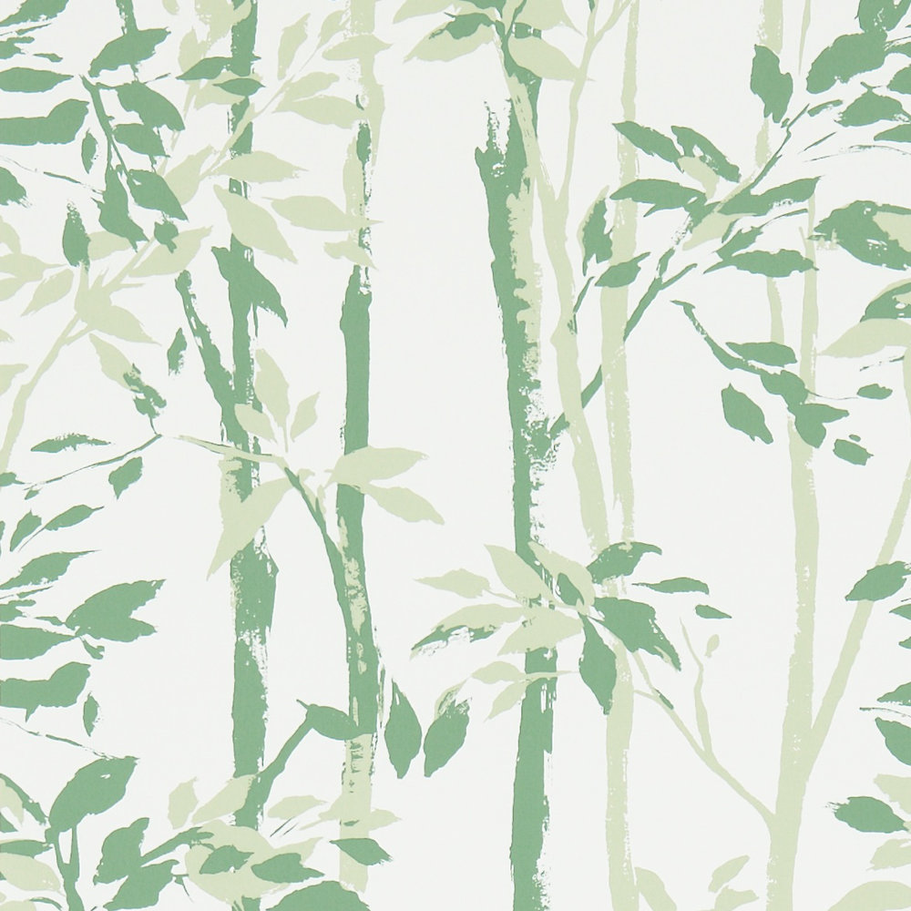 Sanderson Beechgrove Green / Ivory Wallpaper - Product code: 214575