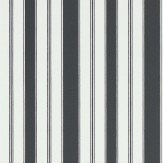 Sanderson Cecile Stripe Ebony Wallpaper - Product code: 214581
