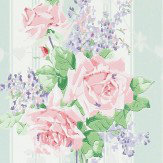 Sanderson Cecile Rose Duck Egg / Rose Wallpaper