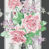 Sanderson Cecile Rose Ebony / Rose Wallpaper