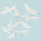 Sanderson Seagulls Blue Wallpaper