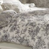 iliv Aquitaine Double Duvet Set Charcoal Duvet Cover