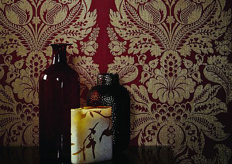 Arthouse Teramo Damask Regal Red Wallpaper