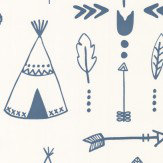 Hibou Home Teepees Indigo / White Wallpaper - Product code: HH01002
