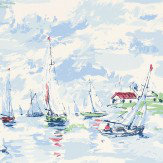 Sanderson Sail Away Sky Blue Wallpaper