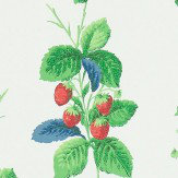 Sanderson Summer Strawberries Strawberry / Leaf Wallpaper