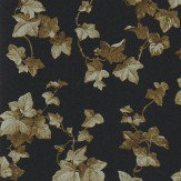 Sanderson Hedera Ebony / copper Wallpaper
