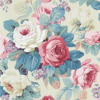 Sanderson Chelsea Indigo / Loganberry Wallpaper - Product code: 214602