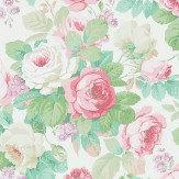 Sanderson Chelsea Pink / Celadon Wallpaper