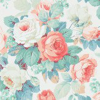 Sanderson Chelsea Coral / Emerald Wallpaper - Product code: 214605