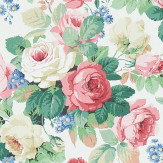 Sanderson Chelsea White / Pink Wallpaper