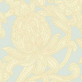 Arthouse Viola Cream / Blue Wallpaper