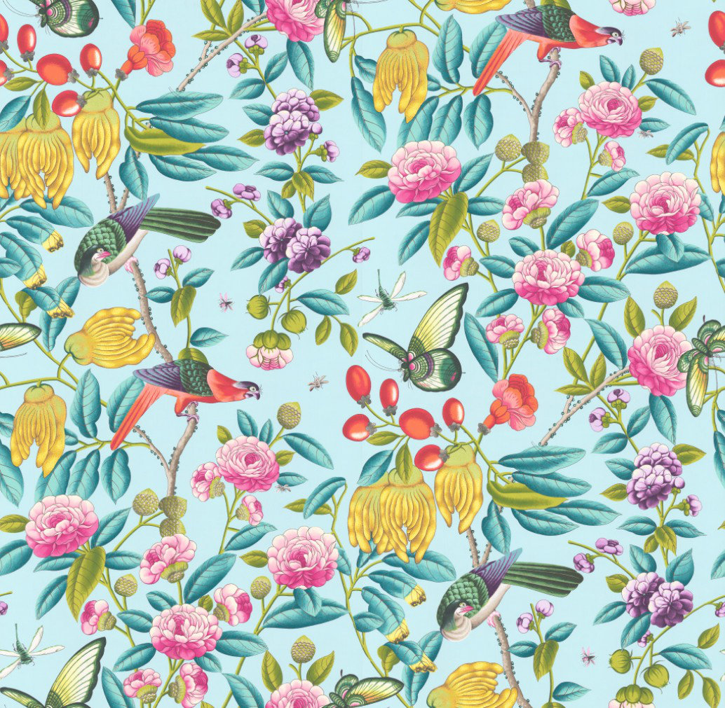Serendip By Manuel Canovas Turquoise Wallpaper Direct