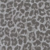 Osborne & Little Pardus Charcoal & Metallic Silver Wallpaper