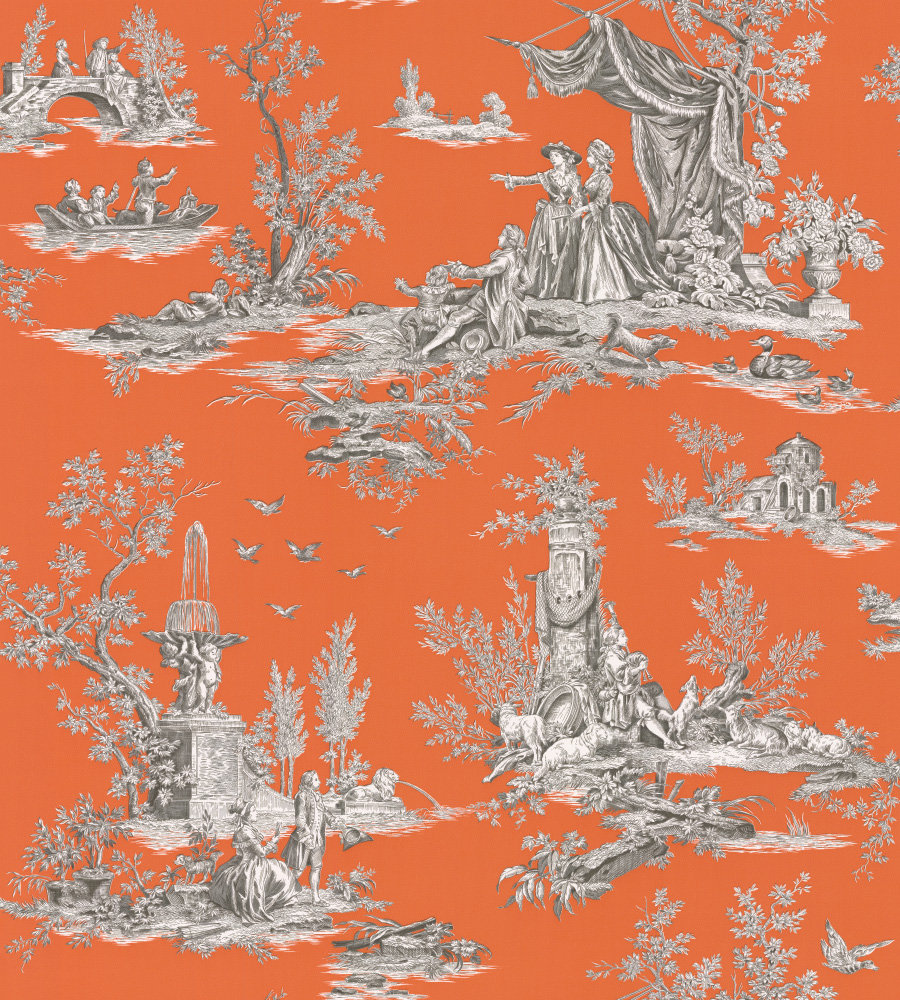 Manuel Canovas Jardin du Luxembourg Abricot Wallpaper - Product code: 3066/04