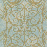 Albany Ornate Lace Aqua Wallpaper