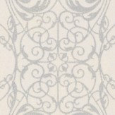 Albany Ornate Lace Silver Wallpaper