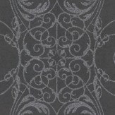 Albany Ornate Lace Black Wallpaper