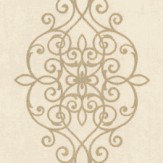 Albany Ornate Lace Motif Cream Wallpaper