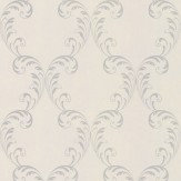 Albany Feather Trail Silver Wallpaper