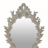 Arthouse Vintage Oval Mirror White