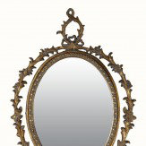 Arthouse Antique Oval Mirror Copper