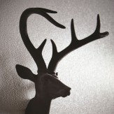 Arthouse Flocked Stag Black Art