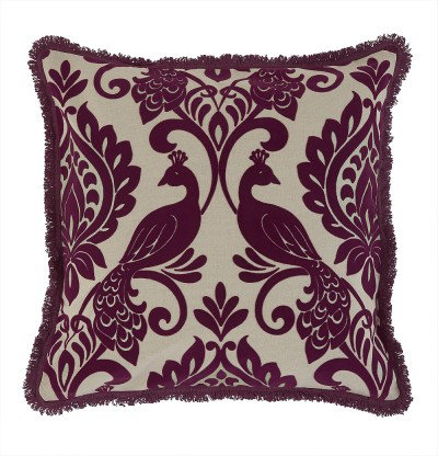 Image of Arthouse Cushions Borromeo Damson Cushion, 008279
