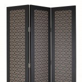 Arthouse San Remo Amber Black Tall Screen Gold and Black Room Divider