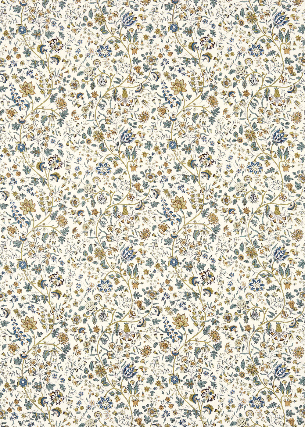 Sanderson Sita Pewter / Gold Fabric - Product code: 224311