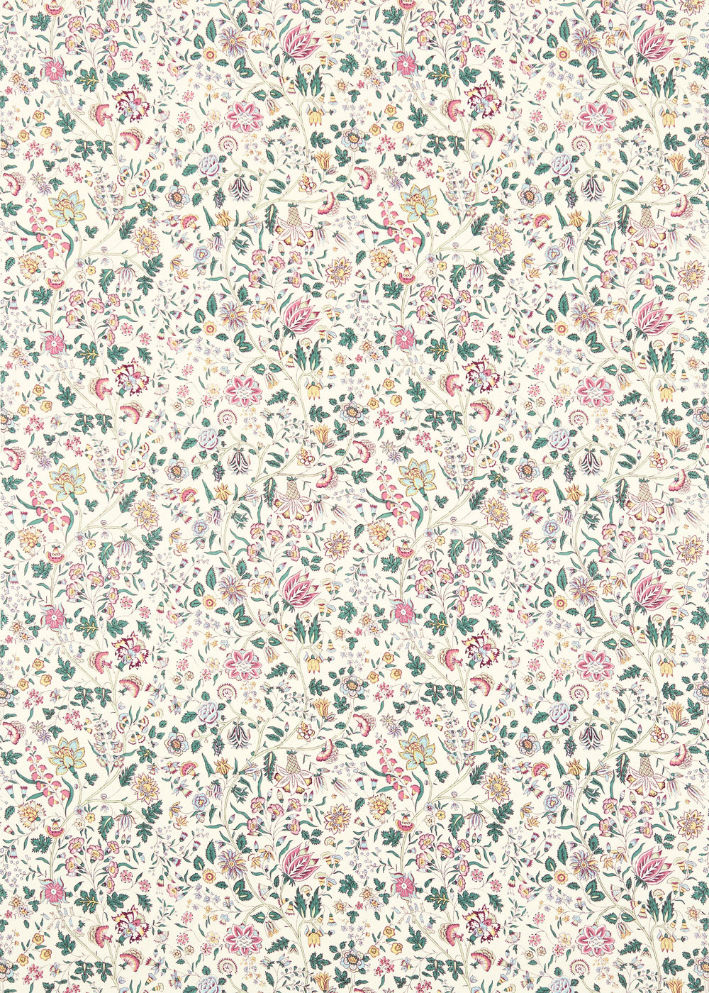 Sanderson Sita Teal / Loganberry Fabric - Product code: 224312