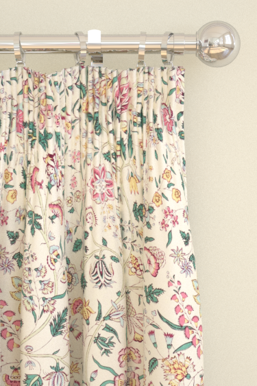 Sanderson Sita Teal / Loganberry Curtains - Product code: 224312