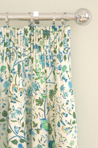 Sanderson Sita Sapphire / Green Curtains - Product code: 224314