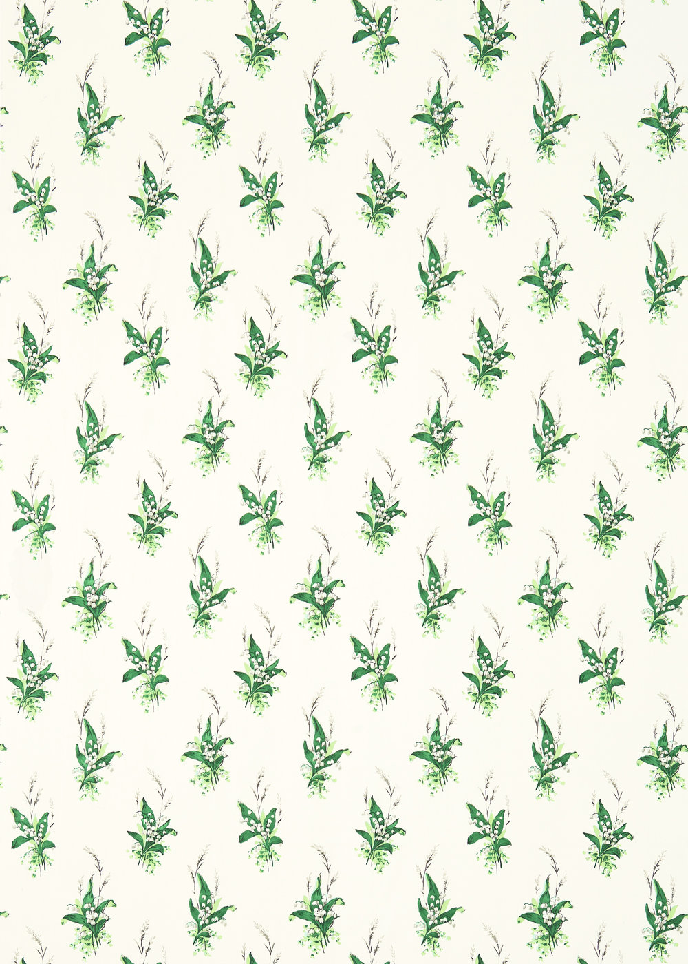 Sanderson Muguet Emerald / Ivory Fabric - Product code: 224315