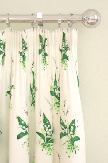 Sanderson Muguet Emerald / Ivory Curtains - Product code: 224315
