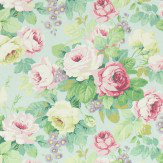 Sanderson Chelsea Duck Egg / Rose Fabric - Product code: 224317