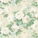 Sanderson Chelsea Sage / Ivory Fabric - Product code: 224318