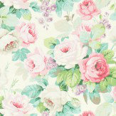 Sanderson Chelsea Pink / Celadon Fabric - Product code: 224321