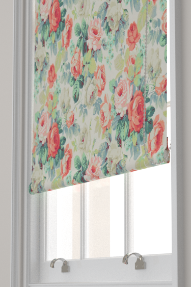 Sanderson Chelsea Coral / Emerald Blind - Product code: 224322
