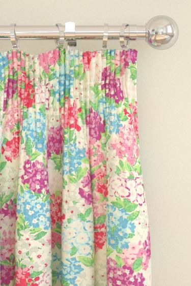 Sanderson Cottage Garden Scarlet / Cobalt Curtains - Product code: 224323
