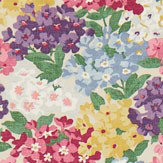Sanderson Cottage Garden Blackcurrant / Crimson Fabric - Product code: 224324