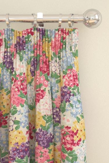 Sanderson Cottage Garden Blackcurrant / Crimson Curtains - Product code: 224324
